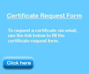 Certificate Request Form